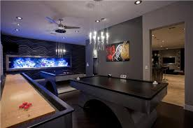 Dark Contemporary Game Room by Chris Jovanelly