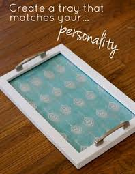 Love this idea: I'm totally going to make a few of these DIY trays.hang  them in the kitchen when not in use and it does double duty! decor that is  actually ...