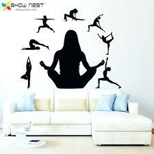 yoga wall art yoga wall decal yoga art wallpaper yoga studio mural decor meditation yoga vinyl
