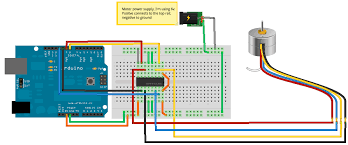 4 wire stepper motor driver ic images parallel port is connected the first step is to cut white wire which turns stepper from
