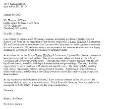 Cover Letter Sample Law Firm Internship Cover Letter For Law