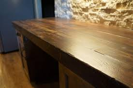 wood look concrete countertops for kitchens