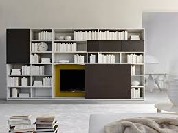 Wall-mounted sectional TV wall system 505  2011 ed. Collection by MOLTENI