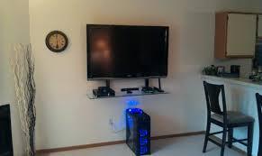 wall mount cable box shelf it single for tv mounts shelves