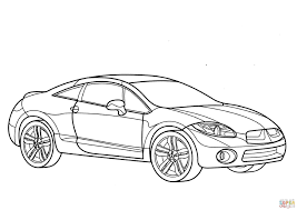 3508x2480 mitsubishi eclipse coloring page free printable coloring pages