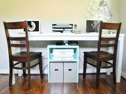 long home office desk. Fanciful Desk For Two Brilliant 2 Person Idea Fantastic Home Design Trend 2017 With Lp Monitor Computer Ikea Office Chair Year Old Facing Each Other 27 Inch Long