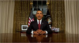 obama declares an end to combat mission in iraq barack obama oval office