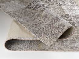 Dalliance Allover Vintage Patchwork Velour Teppich In Natur Größe 250x300 Cm