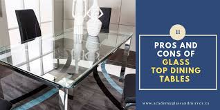 pros and cons of glass dining room tables