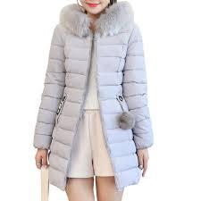 best plus size winter coat women fake fur collar warm woman parka
