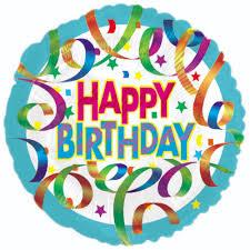 Happy Birthday Streamers Balloon