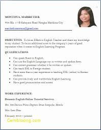 Biodata Format For Teacher Job Application Best Of Format Resume For