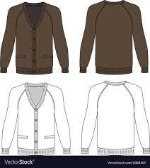 Cardigan Design Template Long Sleeve Cardigan