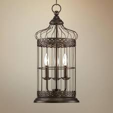 franklin iron works amber scroll wide chandelier