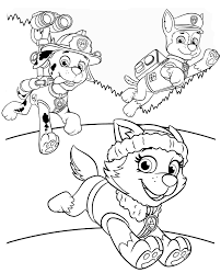 Coloring Pages Coloring Pages For Kids Paw Patrol Ryder Free