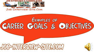 Career Goals Examples Career Goals And Objectives Examples Youtube