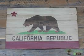 large california state flag planked