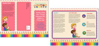 brochure daycare brochure template daycare brochure template medium size