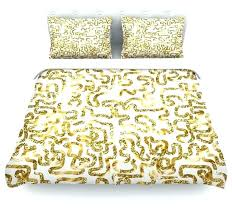 anneline sophia squiggles in gold yellow white duvet coveryellow and cover uk chevron black gold and