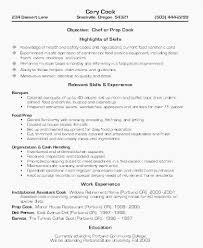 Application Letter For A Cook 11 Awesome Line Cook Resume Skills