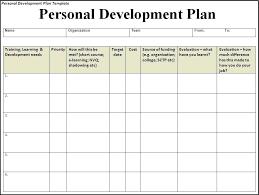 Career Development Plan Sample Template Personal Templates