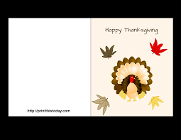Printable Thanksgiving Day Greeting Cards With