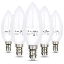Daylight Candelabra Light Bulbs Pack Of 5 Equivalent 60w Non Dimmable Candelabra Base