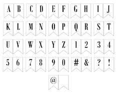 Printable Full Alphabet For Banners Pinterest Best Printables