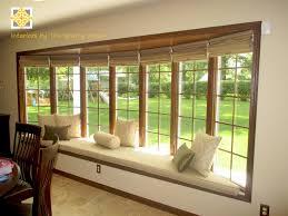 Kitchen Bay Window Seating Window Treatments For Bay Windows Within Bay Window Treatments Bay