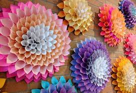 Dahlia Flower Making With Paper Diy Paper Dahlias Kent District Library