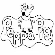 Idea Di Un Disegno Da Colorare Di Peppa Pig Immagini Da Disegnare