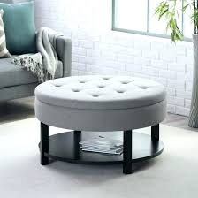 round leather ottoman coffee table. Circle Ottoman Coffee Table Bedroom Round Tufted Leather Footstool .
