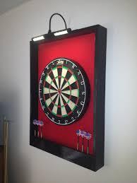 lighted red black trim custom dart board von jaysprojects auf