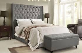 Great Tall Headboard Beds Candela Grey Velvet Bed Tall Headboard