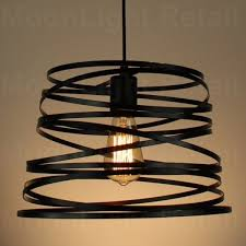 modern vintage industrial retro loft cage ceiling lamp shade pendant light