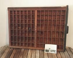 vine wood printers drawer