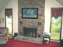 mounting tv above brick fireplace mount masonry