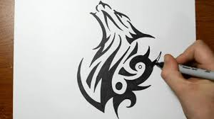wolf face drawing tribal.  Wolf To Wolf Face Drawing Tribal