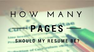 Resume How Many Pages Impressive How Many Pages Should My Resume Be And 28 Principles Behind That