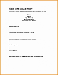 How To Fill Out A Resume Adorable How To Fill Out Resume Free Printable Form Cv Blank Wearefocusco