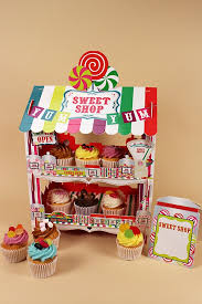 Sweet Shop Stand With Cupcakes Party Cupcakes