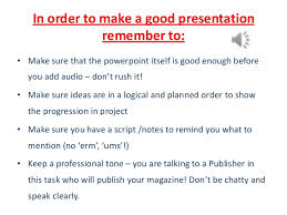 how to make an audio powerpoint presentation 3 in order to make a good