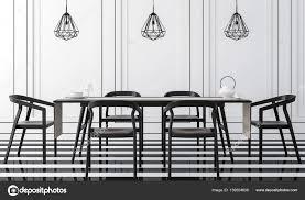 Moderne Vintage Esszimmer Mit Schwarz Weiß Bild 3d