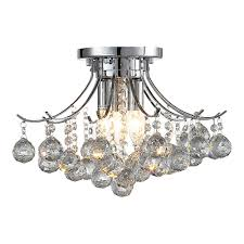warsaw 3 light chrome crystal chandelier