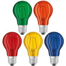 Where Can I Buy Coloured Light Bulbs Details About Packs Of Osram 2w Led Coloured Gls Light Bulbs 240v Edison Screw Cap