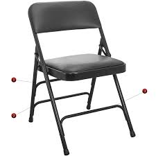 metal folding chairs with padded seats. Exellent Metal Advantage Series Triple Braced And Double Hinged Vinyl Upholstered Metal  Folding Chair With 1 Inside Chairs Padded Seats D