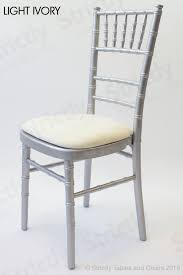 silver chiavari chair. Chiavari Chair Silver Frame With Light Ivory Seat Pad