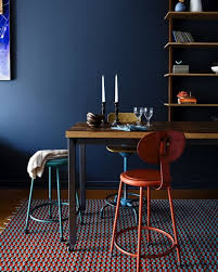Delightful Paint Color Inspiration: Dark Blue Dining Rooms