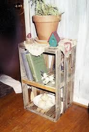 handmade pallet crate shelf and box