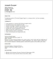 Sample Tech Support Resume Tech Support Resume Template Technical
